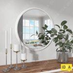 3DsMax - Зеркало круглое (Макс) - Белый копия